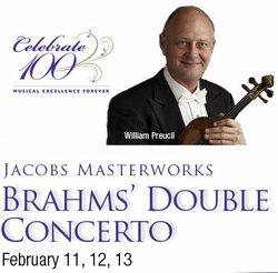 Graphic image for San Diego Symphony's Brahms' Double Concerto.