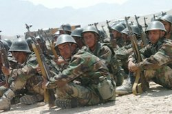 Still image from the documentary &quot;Camp Victory, Afghanistan,&quot; which explores the reality of building a functioning Afghan military.