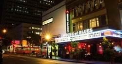 The legendary venue House of Blues is located at 1055 5th Ave., between Broadway and C St.