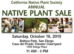 Promotional graphic for the California Native Plant Society&#39;s Annual Native Plant Sale.