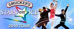 Promotional graphic for Smucker&#39;s Stars On Ice at the San Diego Sports Arena on Saturday, May 22, 2010 at 7:30 p.m. 