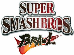 Graphic logo for the Super Smash Bros. Brawl videogame, which will be the featured game at the Encinitas Library's Teen Video Game Tournament.