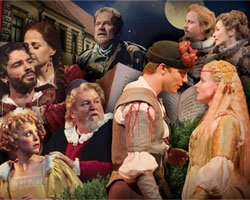"Promotional image for the Old Globe's production of Shakespear's ""Taming of the Shrew."""