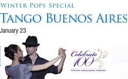 Promotional graphic for Tango Buenos Aires at Copley Symphony Hall.