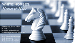 Graphic image for the White Horses: Heroes and Hope production by Sacra/Profana