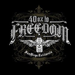 Promotional logo for the 40 oz to Freedom (Sublime Tribute).