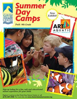 Promotional graphic for 2011 Summer Day Camps at Chula Vista Nature Center