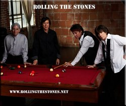 Promotional Graphic of Musical Artist Rolling The Stones.