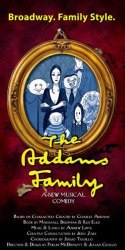 'The Adams Family' promotional graphic.