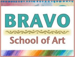 Bravo School of Arts logo.
