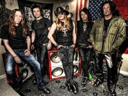 Promotional photo of the band Skid Row.