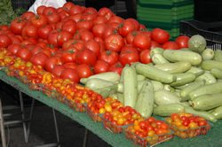 Promotional photo of vegetables from the Carlsbad Village Farmers&#39; Market &amp; Food Fair