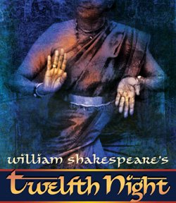 Promotional graphic for William Shakespeare&#39;s &quot;Twelfth Night.&quot; Illustration courtesy of The Old Globe.