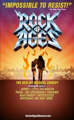 image of &#39;Rock Of Ages&#39; promotional graphic. 