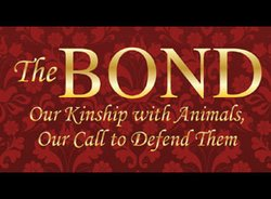"Graphic logo for the event ""The Bond To Benefit Animal Causes."""