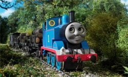 Promotional graphic of Thomas the Tank Engine.