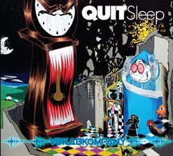 "Graphical album cover of the Vokab Company's album ""Quit Sleep"""