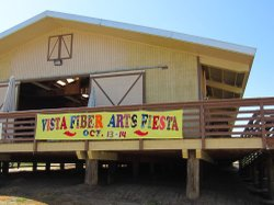 Image of a promotional banner for the 2nd Annual Vista Fiber Arts Fiesta on October 13 and 14, 2012.