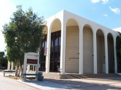 Exterior image of the SDSU Experimental Theatre.