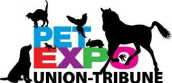 Promotional graphic for the San Diego Pet Expo at Del Mar Fairgrounds, April 14-15, 2012.