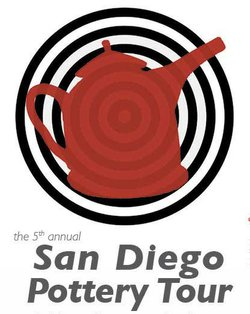 Promotional graphic for the 5th Annual San Diego Pottery Tour taking place on December 8th & 9th, 2012.