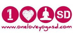 Graphic logo for One Love Yoga San Diego.