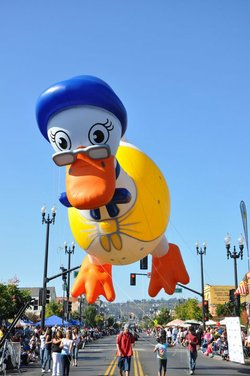 Image from the 2011 Mother Goose Parade in El Cajon, San Diego. Courtesy to the Mother Goose Parade Association. 