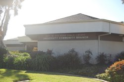 Exterior image for the University Community Branch Library.
