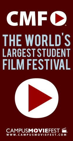Promotional logo for Campus MovieFest. Courtesy of Campus MovieFest. 
