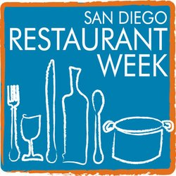 Graphical logo for San Diego Restaurant Week.