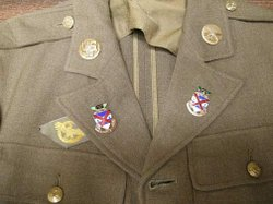 World War II military uniform of Hideo Ochi, a resident of Chula Vista who was a member of the acclaimed 442nd Regimental Combat Team, an all-Japanese American group that was the most decorated unit for its size and length of service in the entire history of the U.S. military. Photo courtesy of the Japanese American Historical Society of San Diego.