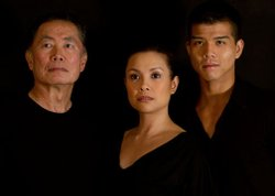 (from left) George Takei will star as Sam Kimura and Ojii-san, Lea Salonga as Kei Kimura and Telly Leung as Sammy Kimura in the World Premiere of &quot;Allegiance - A New American Musical,&quot; with music and lyrics by Jay Kuo and book by Marc Acito, Kuo and Lorenzo Thione, directed by Stafford Arima, Sept. 7 - Oct. 28, 2012 at The Old Globe. Photo by Vincent Desro.