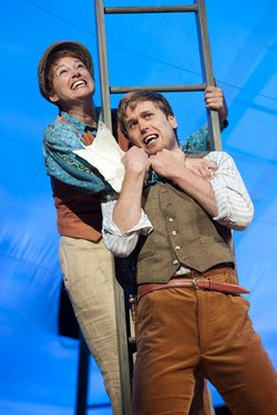 "Dana Green as Rosalind and Dan Amboyer as Orlando in The Old Globe's Shakespeare Festival production of William Shakespeare's ""As You Like It,"" directed by Adrian Noble, June 10 - Sept. 30, 2012. Photo by Henry DiRocco."