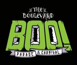 Graphical logo of The Boulevard BOO! Parade & Carnival.