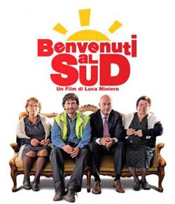 Promotional movie poster of Benvenuti al sud (2010), playing at the San Diego Italian Film Festival on October 27th at 7pm.