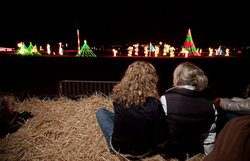 Promotional photo of guests enjoying the annual Holiday of Lights at the Del Mar Fairgrounds. Courtesy of the Del Mar Fairgrounds.