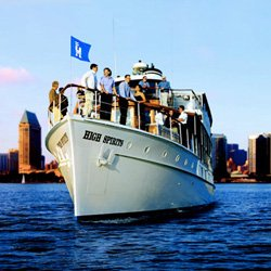 Promotional image of Hornblower Cruises &amp; Events on the San Diego Bay. 