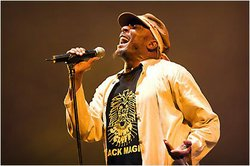 Image of reggae artist, Jimmy Cliff. 
