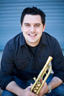 Image of trumpet player, John Reynolds.
