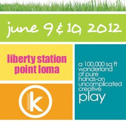 Promotional graphic for Kidsfest San Diego 2012, June 9 & 10, NTC Promenade, Point Loma