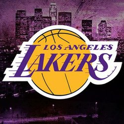 Graphic logo for the LA Lakers NBA basketball team