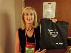 Image of Marilyn Weinhouse at Hearing Loss Association of America conference.