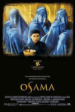 Promotional movie poster for &quot;Osama&quot;. 