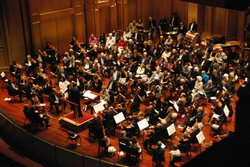 Image of a live performance at the Copley Symphony Hall. Courtesy of the San Diego Symphony.