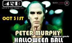 Promotional flyer for Peter Murphy Halloween Ball.