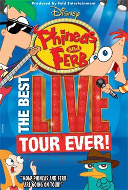 Graphical logo for Disney&#39;s Phineas and Ferb: LIVE.