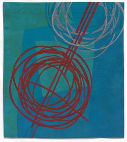 "Judy Kirpich's ""Circles No4"" from the exhibition, ""Quilt National,"" at Oceanside Museum of Art, October 14, 2012 through February 10, 2013. Courtesy of Oceanside Museum of Art."