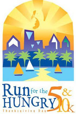Graphic logo for United Run for the Hungry on Thanksgiving Day, November 22nd.