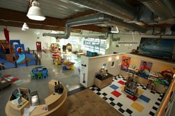 Interior image of San Diego Children&#39;s Discovery Museum. 