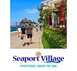 Promotional graphic for Seaport Village.